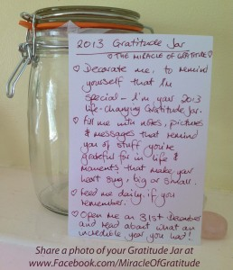 Create A Gratitude Jar for 2013 ~ The Miracle Of Gratitude