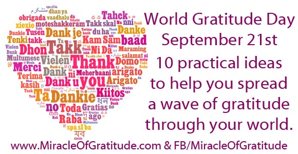 World Gratitude Day 21st September