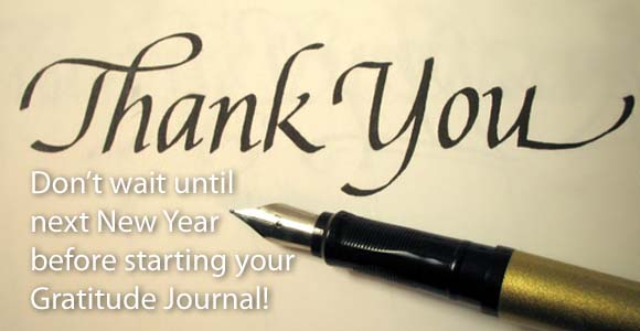 How about starting a gratitude journal today?