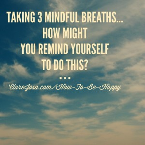 How could you remind yourself to take 3 mindful breaths?