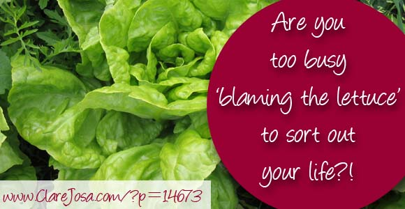 Are you too busy 'blaming the lettuce' to sort out your life?