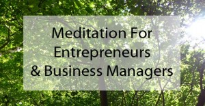 Meditation for managers online course