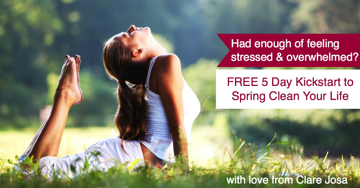 Free 5 day Spring Clean Your Life video course
