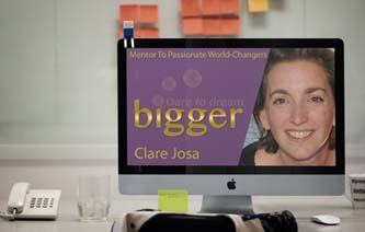 Free monthly live training - masterclass with Clare Josa http://www.daretodreambigger.biz/masterclass