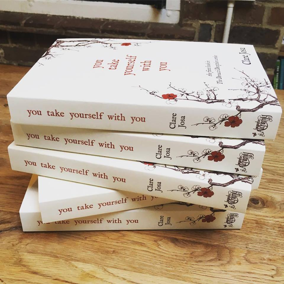 Have you got your copy yet? Clare Josa's new novel: You Take Yourself With You http://www.clarejosa.com/youtakeyourselfwithyou/