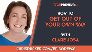 Clare Josa with Chris Ducker